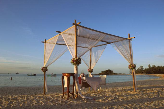 Der Choeng Mon beach im Norden von Koh Samui