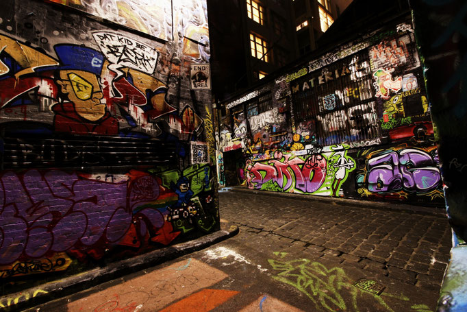 Streetart in der Hosier Lane Melbourne