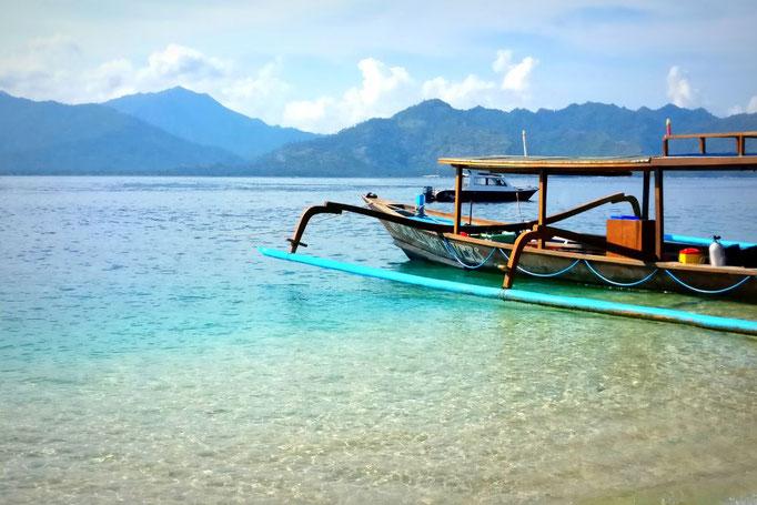 Typisches Boot auf Gili Air