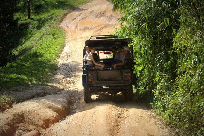 Mit dem Jeep über Koh Samui