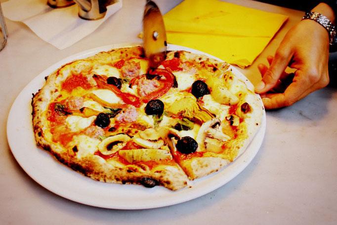 Selbstgemachte Pizza in Florenz
