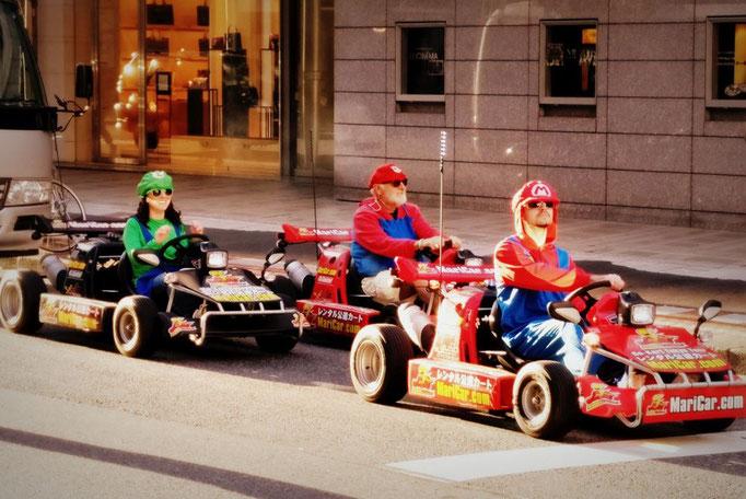 Mit dem Mariocart durch Tokio