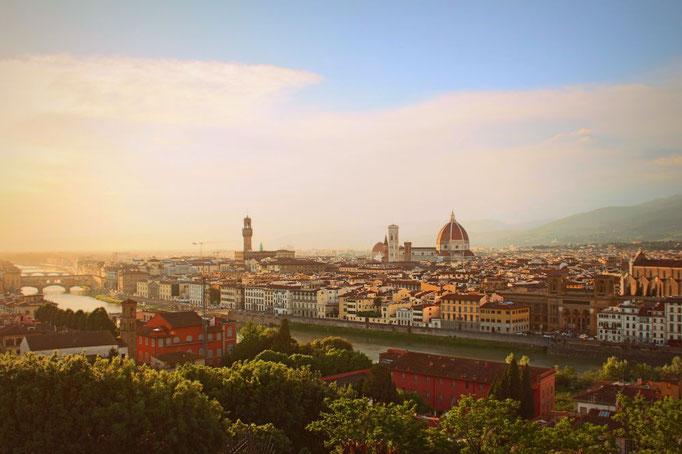 Blick über Florenz mit Arno