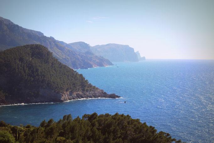 Blick über die Nordküste der Insel
