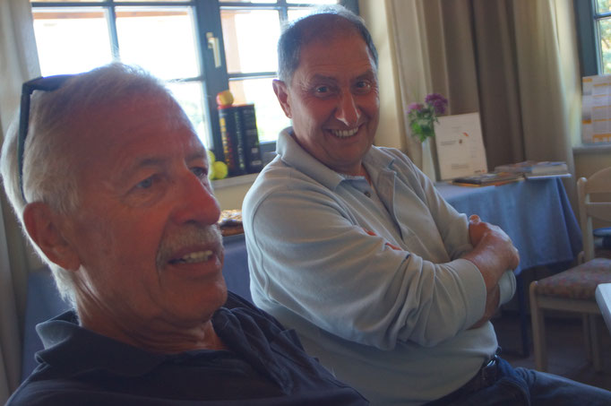 ...ein mit sich zufriedener Gerardo, hat sowohl sein Einzel / Doppel gewonnen