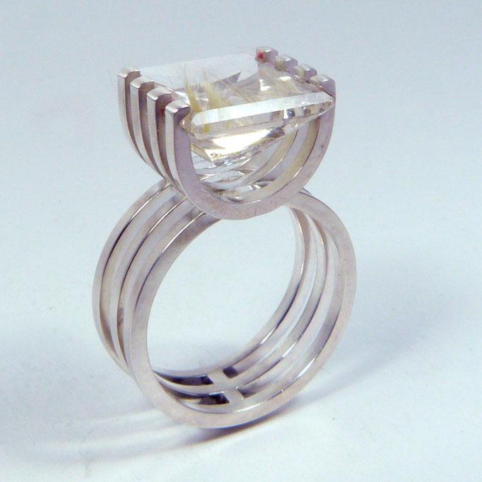 Ring CHAIR Silber Rutilquarz
