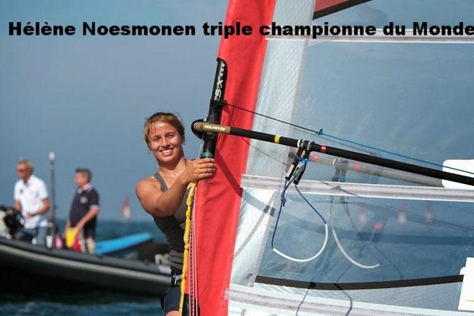 Hélène Noesmoen  triple championne du Monde junior en planche à voile Olympique