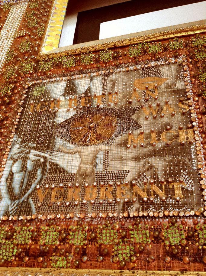 ` Ich bete an was mich verbrennt ` - einzigartige, exklus. Kunst von M. A. MARTIN - Berlin - Mallorca