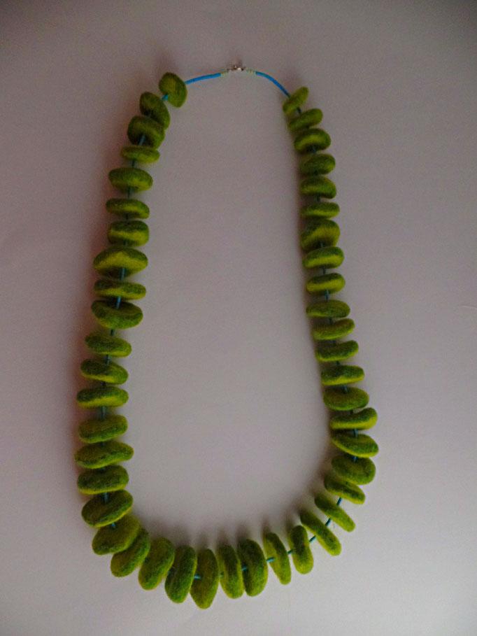 Filzkette grün/türkis