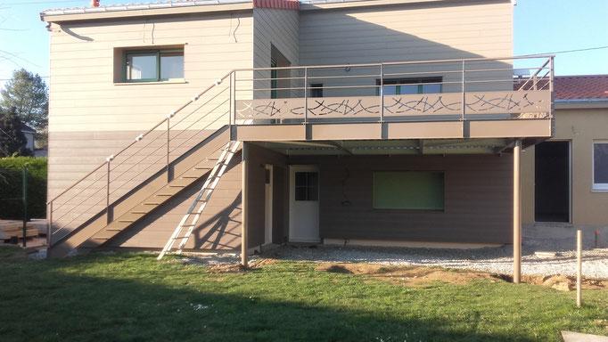 Escalier et terrasse