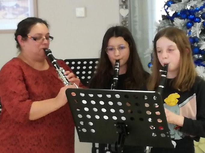 Un pupitre pour 3 clarinettes