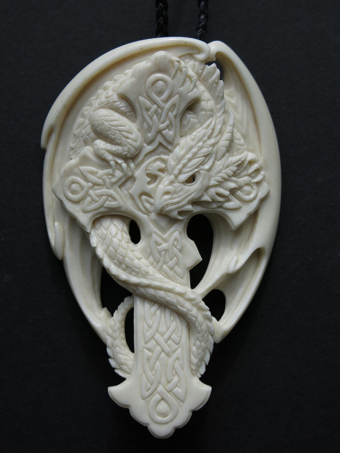 Dragon / Cow Bone Carving