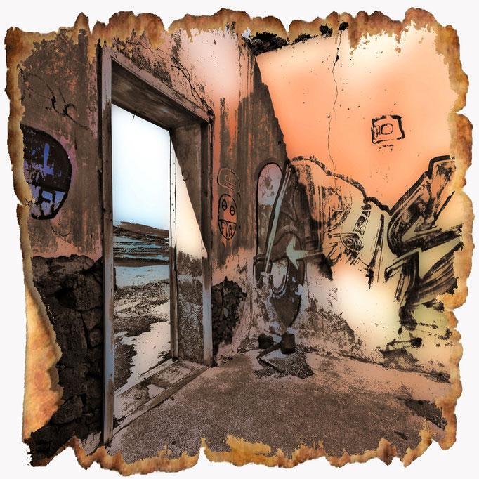 Zerfallenes Haus auf Lanzarote