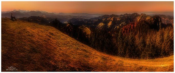 Sicht vom Napf, Richtung Alpen