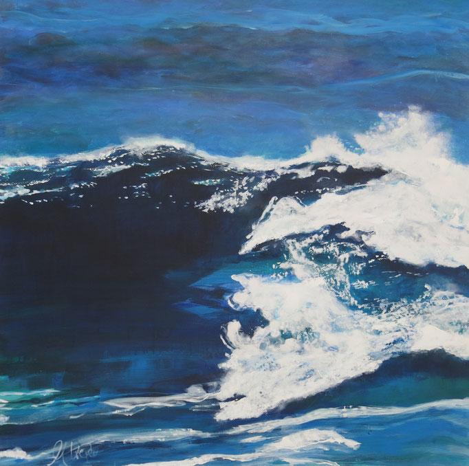 """Atlantic Waves"" 1x1m- Acryl auf LW"