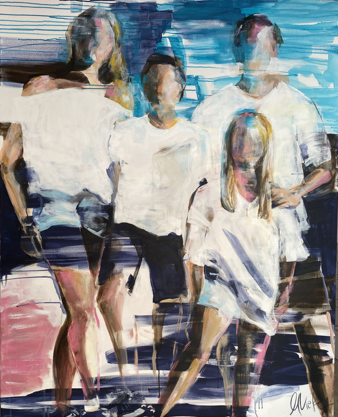 """Happy Family"" 120x160cm"