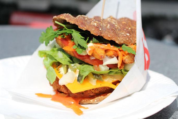 Falafel Burger Bonn vegan Marktplatz