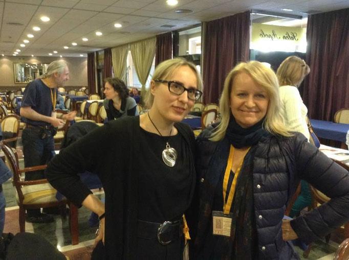 Die Künstlerinnen Natalija Cernecova und Silvia Martignoni