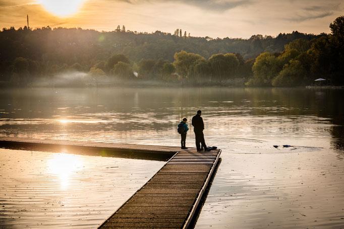 Fotograf, Stuttgart, See, Abend, Sonne, Steg