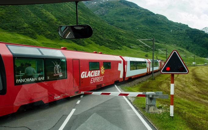 Der Glacier Express hat Vorrang