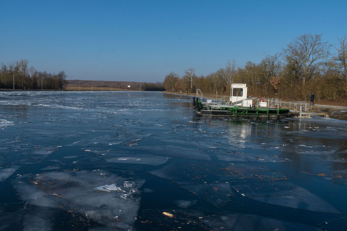 Der Kanal an der Schleuse Gerlachshausen