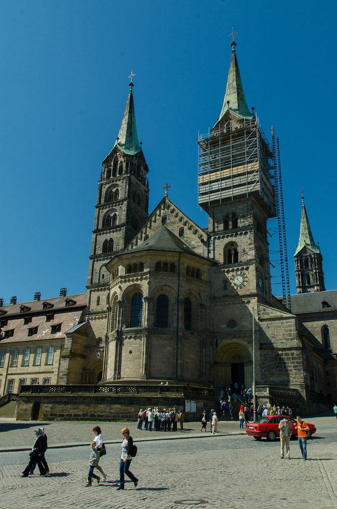 Der Bamberger Dom,  die Grundsteinlegung erfolgte 1004 durch Kaiser Heinrich II. (973-1024).