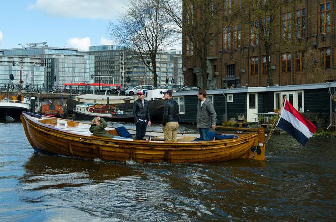 Grachtenrundfahrt in Amsterdam, Hausboote