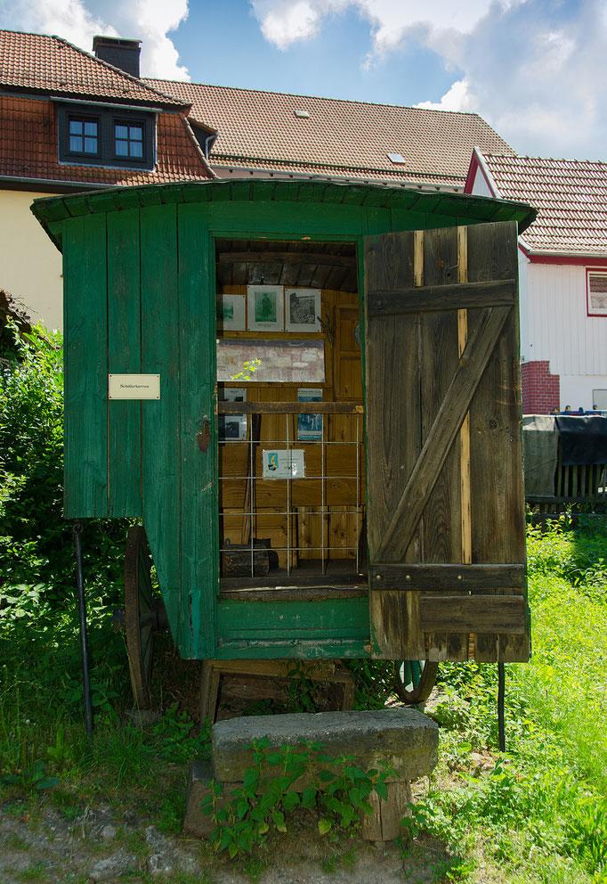Schäferkarren, Bild aus dem Rhöner Museumsdorf Tann