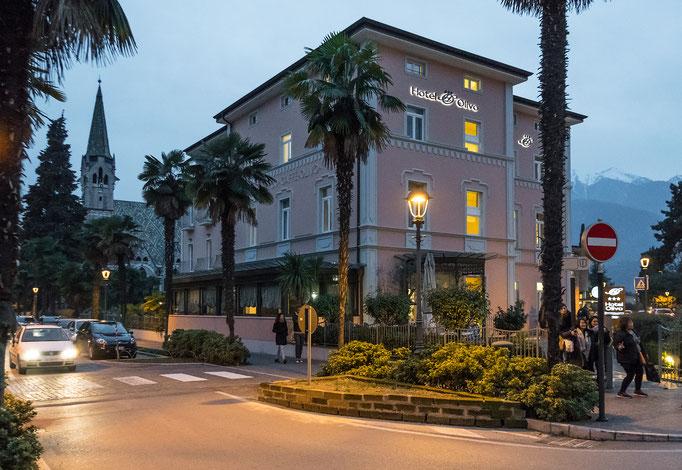Das Hotel Olivo in Arco (5 km nördlich vom Gardasee gelegen)