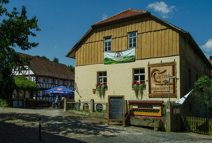 Eingang zum Rhöner Museumsdorf Tann