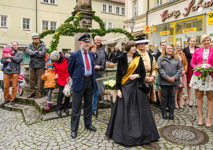 Gerhard Bauer mit der Kohlenhofprinzessin Ramona