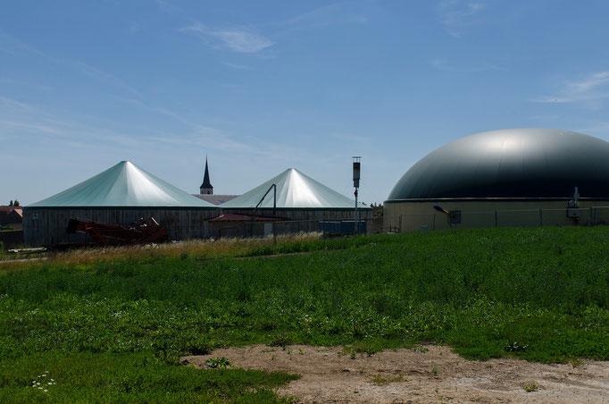 Biogasanlage in Hopferstadt, Ufr.