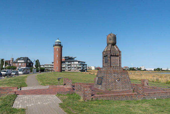 Denkmal für die Opfer die im 2. Weltkrieg durch Seeminen ums Leben kamen.