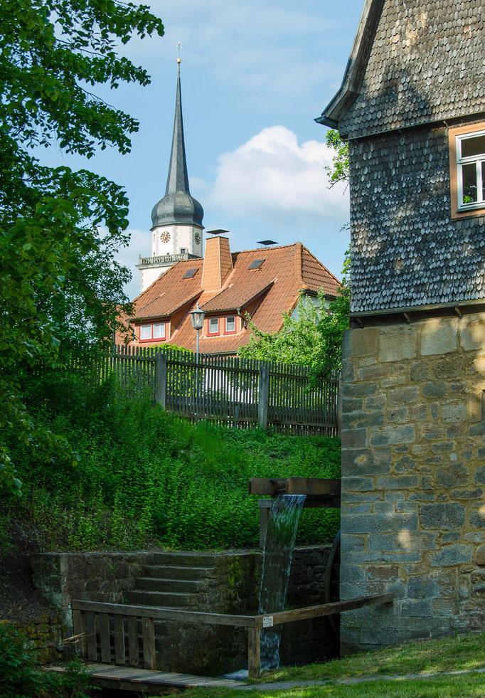 Äußere Mühle,sogenannte Reßmühle aus Fladunden, Landkreis Rhön-Grabfeld