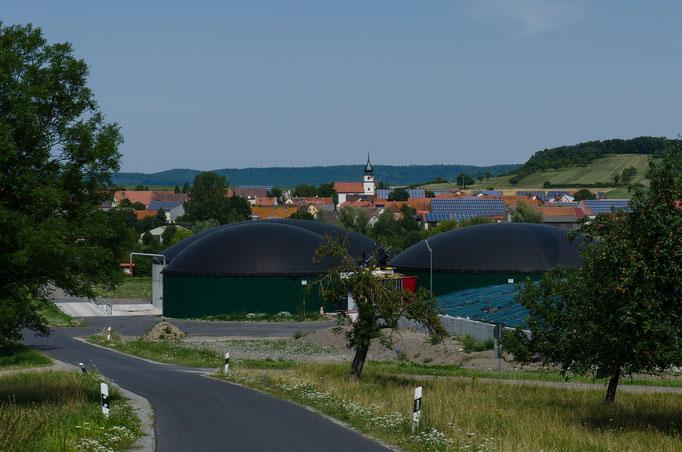 Biogasanlage am Ortsrand von Krautostheim, Mfr.