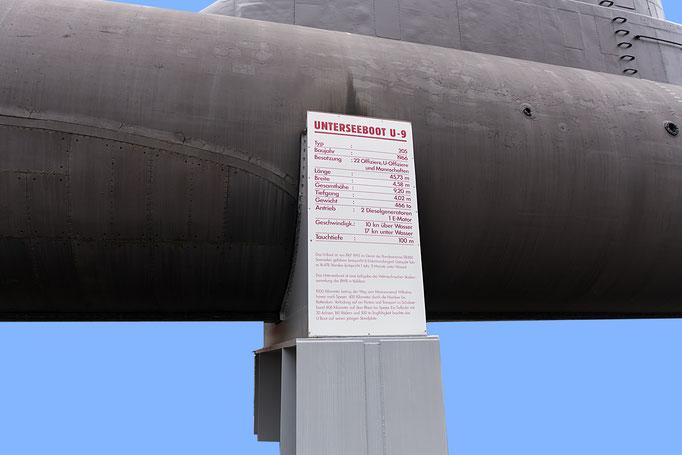 Unterseeboot U-9, Infotafel