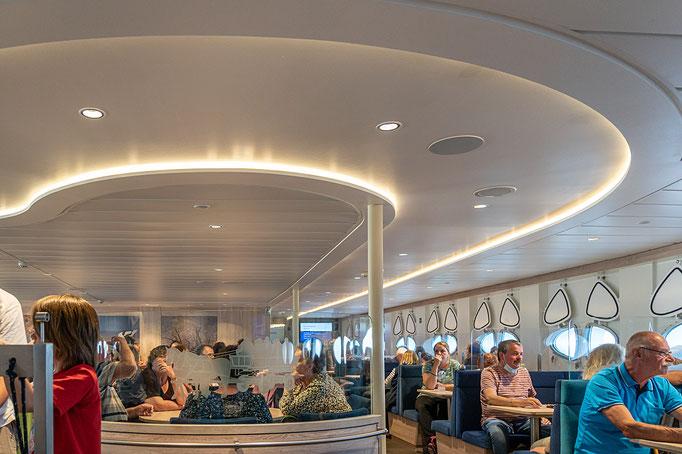Deck 2 der MS Helgoland