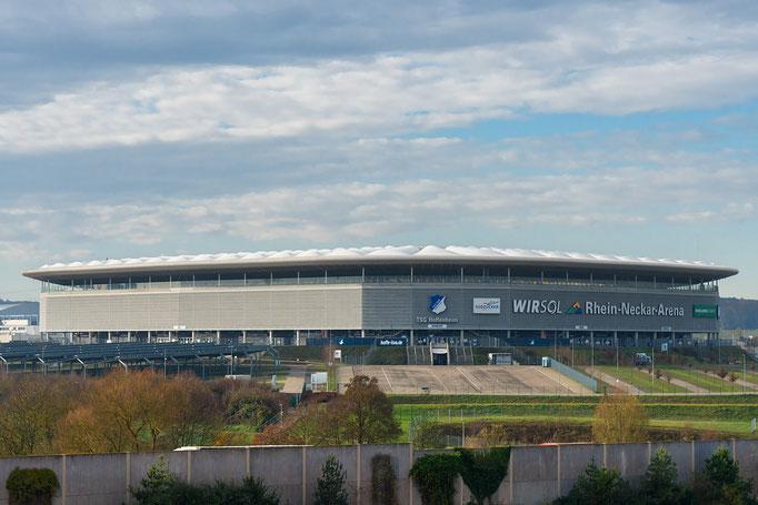 Die Rhein-Neckar-Arena, Spielstätte des Bundesligisten TSG Hoffenheim