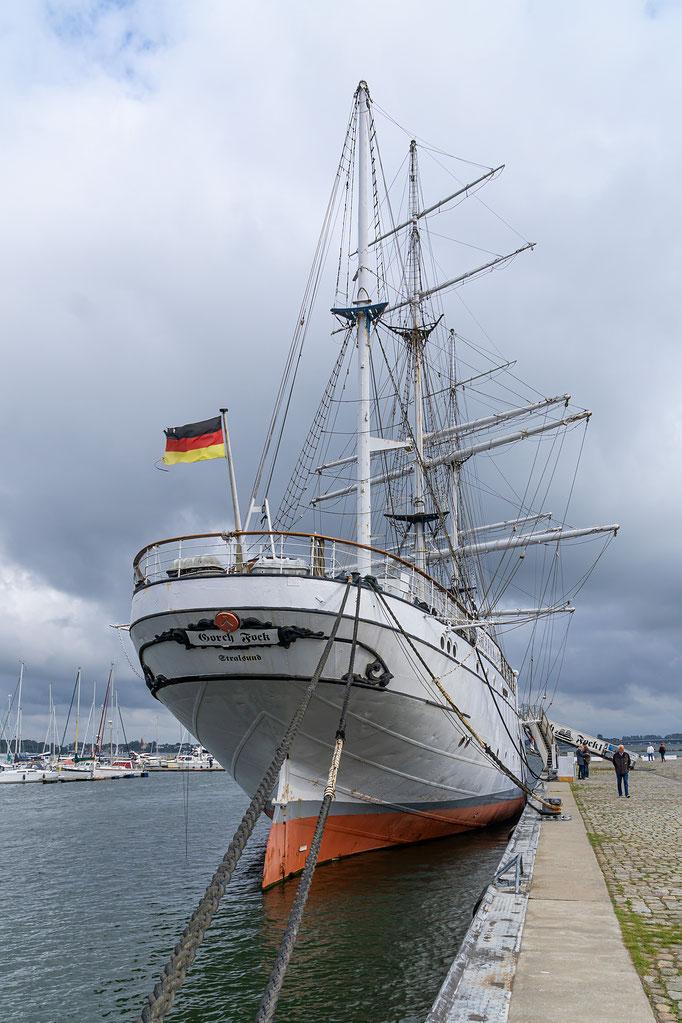 Das Heck des Segelschiffes
