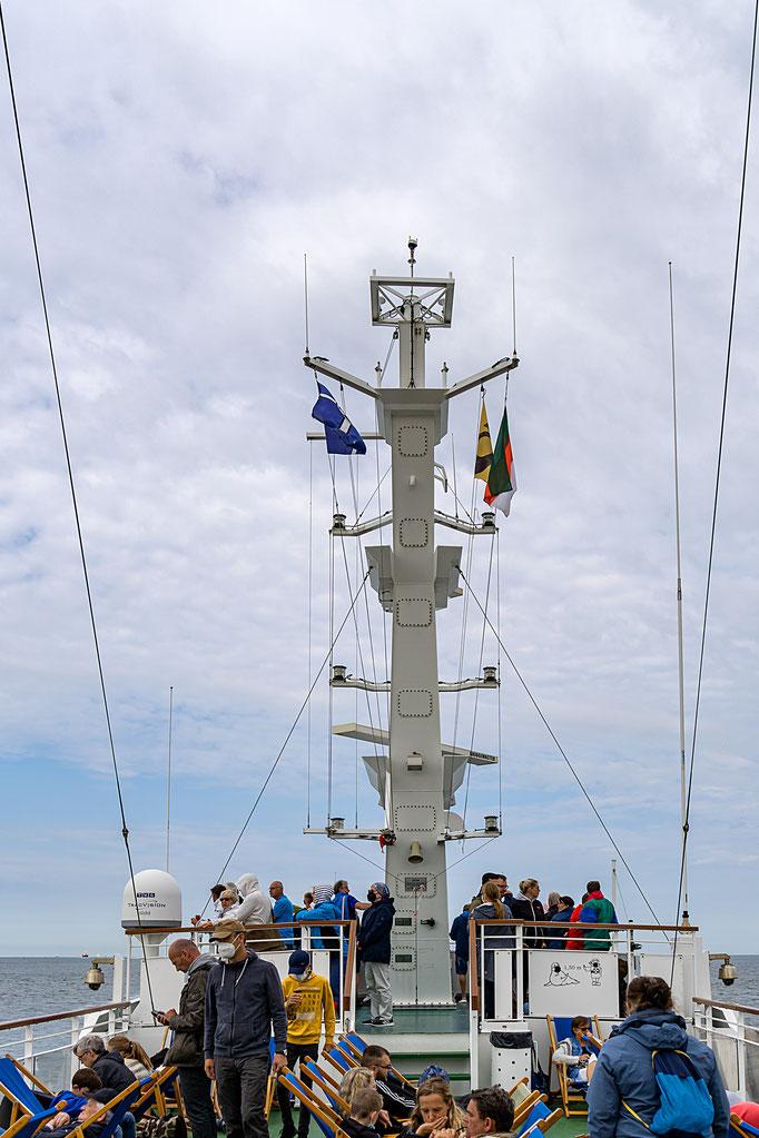 Das oberste Deck der MS Helgoland