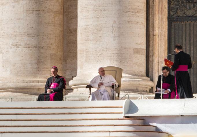 Papst Franziskus während der Generalaudienz