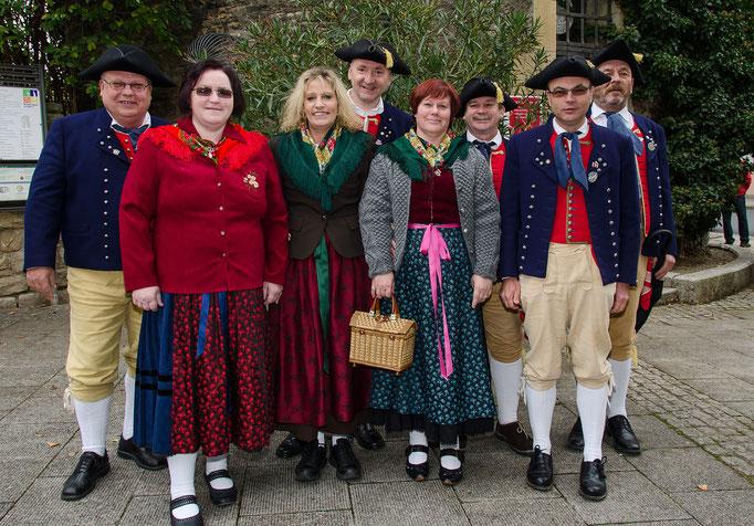 Gruppenbild von der Fränkischen Volkstanzgruppe Kitzingen