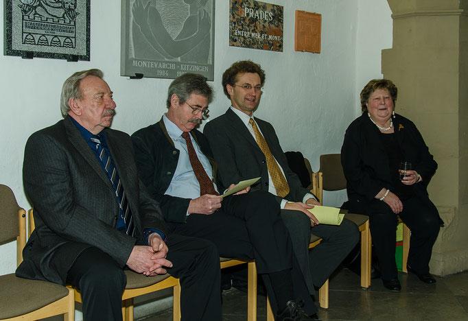 Aldo Michalek, Werner Katzenberger, Dietrich Hermann und Jutta Wallrapp