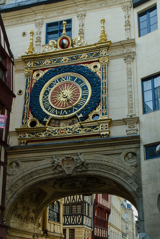 Rouen; La Gros-Horloge (Großer Uhrenturm)