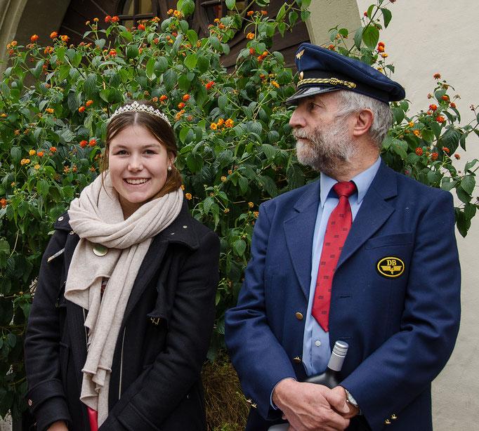 Weinprinzessin Carolin aus Castell/ Greuth mit Gerhard Bauer