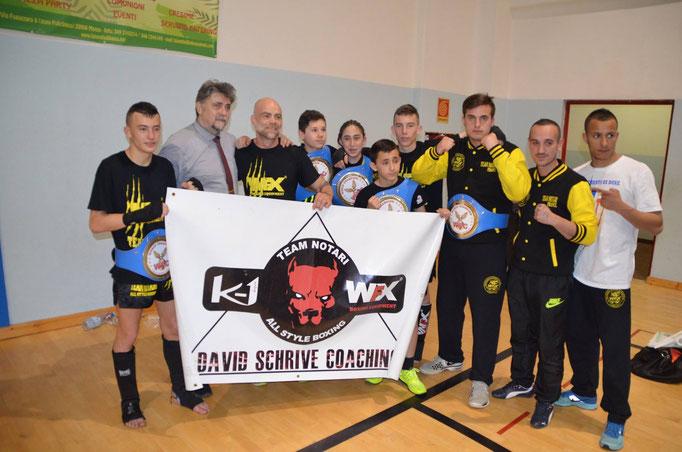 Le Team Notari en compagnie du Président de la WFC,Franco SCORANNO