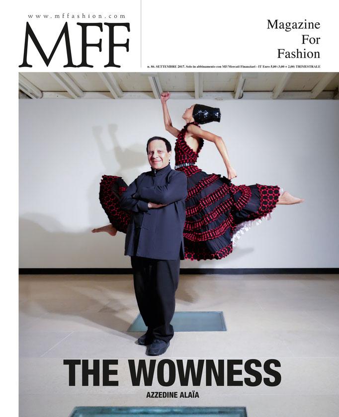 Edito for MFF Magazine special Azzedine Alaïa by Valerio with Dilone Stylist by Carlyne Cerf De Dudzeele Head Julien D'Ys Makeup by me Amelie Moutia