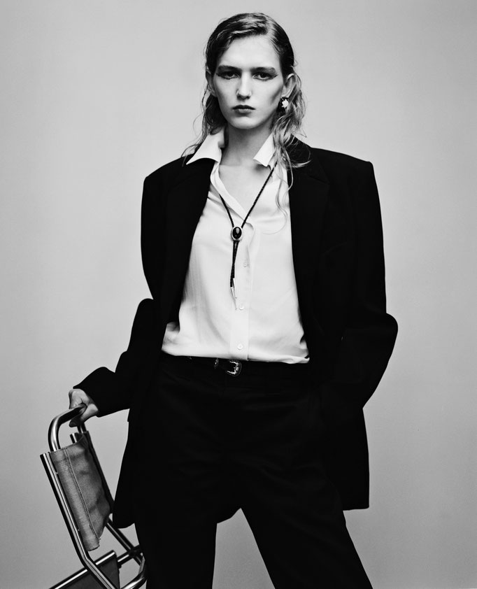 Model Mia Brammer Photographer Mathieu Rainaud Hair Nelson Stylist Emmanuelle Deluze Makeup Amelie Moutia