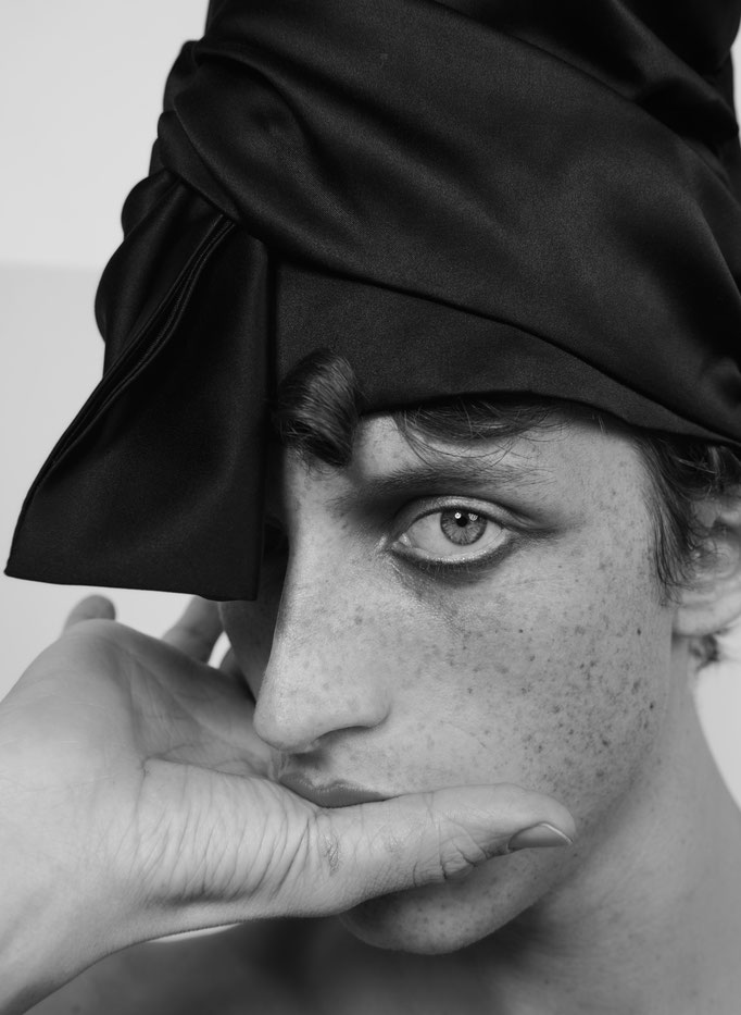 """""""Boys don't cry"""" for Duel Magazine with Alexis Maçon Dauxerre from Bananas Agency By photographer Catherine Louis digital Fred Bergue Hair Nelson Mua Amelie Moutia Open Talent Agency"""