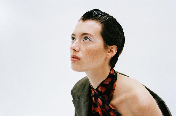 Photographer Louise Thornfeldt Model Iris Delcourt Viva Models Stylist Eline Hoyois Makeup and Hair by Me Amelie Moutia